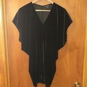 Land's End Black Velvet Slouchy Dress / Tunic
